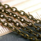 15ft Vintage Antique Bronze Plated Cable Chain Link Chains 3.8x2.5mm c215 PICK