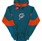 Miami Dolphins NFL Vintage Logo Extra Point Pullover Hoodie Big $44.99 USD on eBay