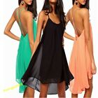 Womens Backless Chiffon Strapless Back Party Cocktail Clubwear Mini Dress Pretty