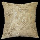 we59a Beige Damask Flower Chenille Throw Pillow Case/Cushion Cover*Custom Size