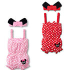 Mini Polka Dot Jumpsuit Rompers Sweet Girl Baby Infant with Headband 2 Colors