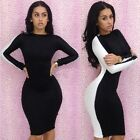 Sexy Women's Ladies Black White BacklessClubwear Stretchy Cocktail Bodycon Dress