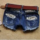 4Sizes Blue Women Summer Fashion Hole Denim Short Personality Cool Short Pant CB