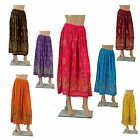 MAXI SOMMER ROCK Pailletten HIPPIE INDIEN GOA INDIA ETHNO FREE SIZE Crinkle