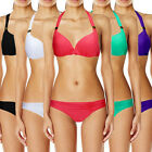 Womens Sexy Padded Push-Up Bra Halter Strap Bikini Beach Swimsuit Swimwear Hot