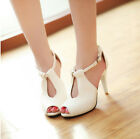 new fashion women open toe ankle strap summer high heel sandal hollow shoes A3