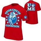 John Cena Red Persevere Never Give Up Mens T-shirt