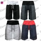 Mens Beach Adjustable Waist String Summer Contrast Knee Length Gym Swim Shorts