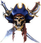 Pirate Skull Lethal Threat Waterslide Ceramic Decals Hx image