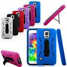 Rugged Impact Hybrid Case Cover with Kickstand for Samsung Galaxy S5 G900A/T/V/P