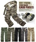 NEW Combat Men's Cotton Military Camouflage Cargo Work Pants ARMY Camo Trousers
