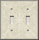 Switch Plates And Outlets - Tuscan Pattern - Light Cream - Kitchen Home Decor