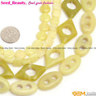 Coin square oval rectangle heart ring rhombus lemon stone loose beads strand 15""