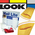 WHITE MAIL LITE PADDED BAGS / ENVELOPES 'ALL SIZES'