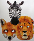 Animal Face Masks - Lion, Fox and Zebra - Great for Parties