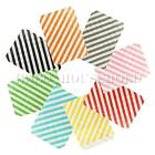 25X Diagonal Stripe Paper Party Bags Snack Treats Lolly Favour Kids Candy Buffet