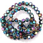 A Strand (about 100pcs) Colorful Hematite Gemstone Spacer Beads Faceted Bead 4mm