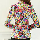 "Floral Women""s Long Sleeve Suits Coat Slim One Button Casual Blazers   [HA]"