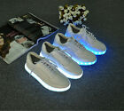 fashion men's lace up flat Luminous shoes new sole lighting sneakers  39-44 A193