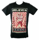 I Believe In The Shield Badge Mens Black T-shirt