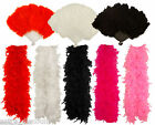 FEATHER BOA RED WHITE BLACK BURLESQUE HEN NIGHT DANCE SOFT FANCY OUTFIT 150CM