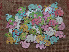 10/25 COLOURED WOODEN ELEPHANT  SHAPED BUTTONS #866 # CRAFTS/SCRAPBOOKING