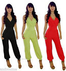 Sexy Womens Ladies OL Deep V Bodycon Cocktail Party Jumpsuit Rompers Trousers