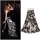 Hot Women's Vintage Printing Casual Wide Leg Long Pants Palazzo Cotton Trousers