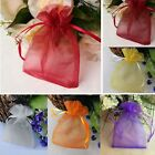100* Organza Wedding Party Favors Present Jewelry Pouches Candy Gift Small Bags