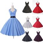UK SHIP 50s 60s Vintage Rockabilly Party Dress Prom Cocktail Retro Swing Pin-Up