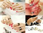 New Punk Gold Silver Twist Pin Style Knuckle Ring Finger Ring