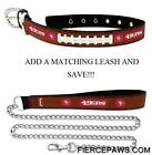San Francisco 49ers Leather Dog Collar Officially Licensed NFL Pet Leash Lead