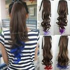 Fashion Women Curly Wave Hair Extensions Tie Up Wrap Long Ponytail Hairpiece