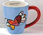 Romero Britto Brightly Colored  Mugs with Heart, Flying Heart or Flower