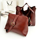womens fashion leather shoulder double bags buckle zipper candy color handbags
