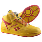 Reebok Sir Jam Mid Men Hi Top Trainers Courier Pack DHL Yellow Red Leather