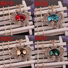 18k Gold plated Women Crystal Pendant Elephant Dress Chain Necklace In 4 Colors