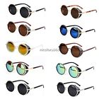 Hot Fashion Steampunk Sunglasses 50s Round Glasses Cyber Goggles Vintage Blinder