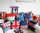 National Flag Throw Pillow Case Pillowslip Cases Chenille Cushion Cover Case CB