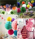 Tissue paper Honeycomb Ball Lanterns poms Wedding Birthday Party Home Decor - Z