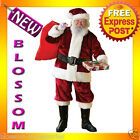C885 Deluxe Crimson Regency Plush Santa Suit Christmas Fancy Dress Adult Costume