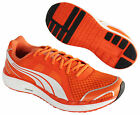 Puma Faas 550 Lace Up Orange Mesh Mens Womens Running Trainers (186052 09 U71)