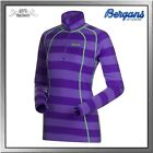 Bergans Fjellrapp Lady Half Zip Shirt Damen primula purple striped