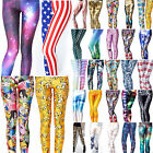 New 2015 Punk Womens 3D Digital Printed Stretch Skinny Leggings Pants Tight Pant