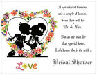 20 Kissing KIDS Silhouette WEDDING Bridal SHOWER Postcards or Flat Cards Env