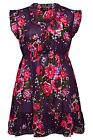 Yoursclothing Womens Plus Size Floral Print Scooped Frill Cotton Tunic