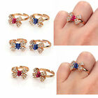 10pcs Jewellery Lots Lovely Cute Crystal Bowknot Bow Girl Finger Rings