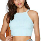 Hot Spaghetti Strap Crop Tank Top Knit Slim Bustier Corset Vest  [HA]