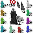 IN CAR USB BULLET CAR CHARGER TRAVEL FOR VARIOUS PHONE MODELS with Data Cable