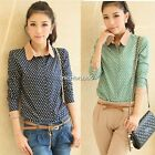 Fashion Ladies Womens Long Sleeve OL Business Casual Button Shirt Blouse Top